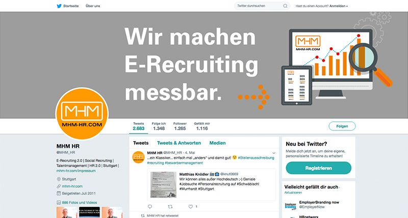 MHM HR-BLOG, FLIPBOARD- UND TWITTER-ACCOUNT